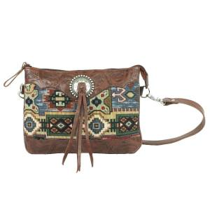 American West Bella Beau Tapestry Multi-Compartment Crossbody Bag