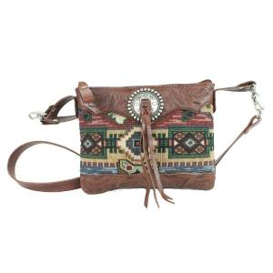 American West Bella Beau Tapestry Trail Rider Crossbody/Hip Bag