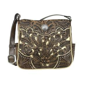 American West Inlay Eagle Messenger Bag