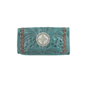 American West Ladies Lariats And Lace Tri-Fold Wallet