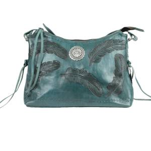 American West Sacred Bird Zip Top Shoulder Bag