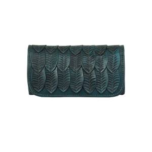 American West Ladies Freedom Feather Tri-Fold Wallet