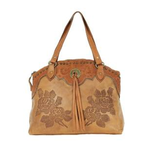 American West Texas Rose Zip Top Tote