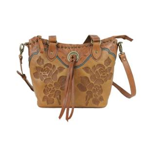 American West Texas Rose Small Zip Top Bucket Tote
