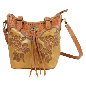 American West Texas Rose Large Zip Top Bucket Tote