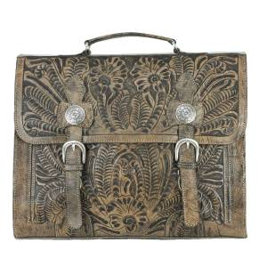 American West Stagecoach Multi Compartment Laptop Briefcase