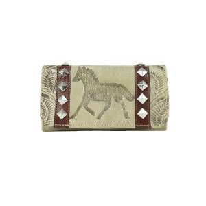 American West Ladies Hitchin Post Tri-Fold Wallet