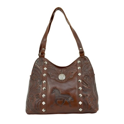 American West Hitchin Post Multi-Compartment Shoulder Bag