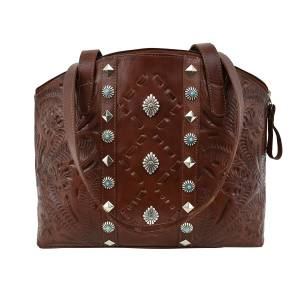 American West Red Deer Tote with Secret Compartment