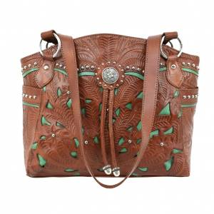 American West Lady Lace Zip Top Tote