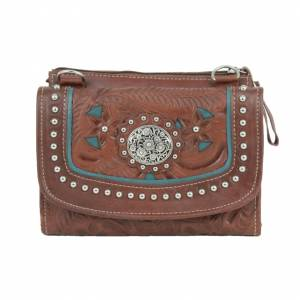American West Lady Lace Crossbody Bag/Wallet