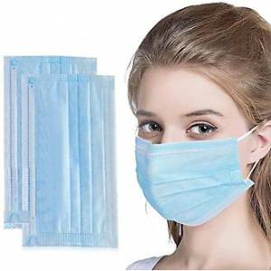 Hygienic 3-Layer Filter Surgical Masks - 50 Pcs