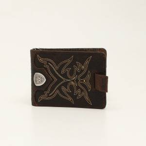 Ariat Mens Bifold Boot Stitch Money Clip
