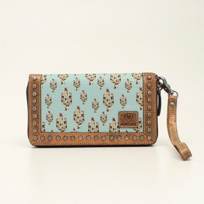 Ariat Ladies Cruiser Cactus Matcher Clutch Purse