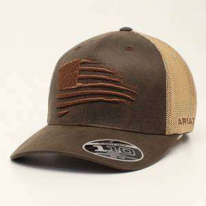 Ariat Mens FlexFit Embroidered Flag Cap