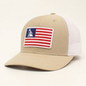 Ariat Mens Flag Patch Cap