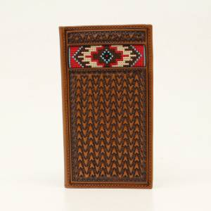 Ariat Mens Rodeo Multi Embroidered Inlay Wallet
