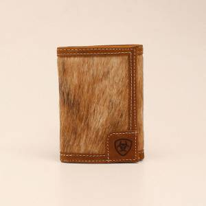 Ariat Mens TriFold Calf Hair Wallet