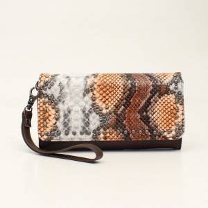 Angel Ranch Ladies Python Clutch Purse