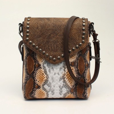 Angel Ranch Messenger Concealed Carry Python Purse