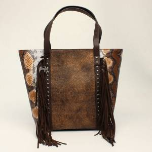 Angel Ranch Ladies Python Fringe Concealed Carry Tote