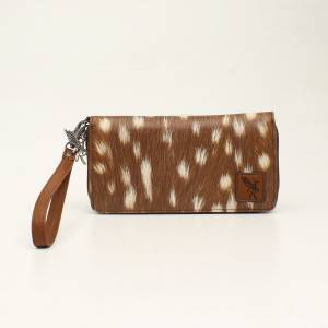 Angel Ranch Zip Deer Clutch Wallet