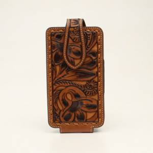 Nocona Ladies Floral Embossed Cell Phone Case