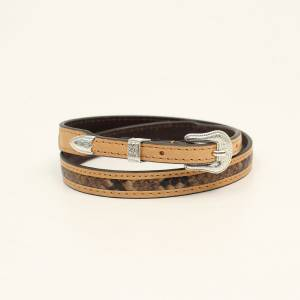 M&F Ladies Western Hatband 3D Snakeskin Belt
