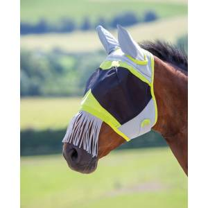 Shires Air Motion Fly Mask Wtih Ears & Nose Fringe
