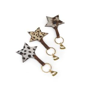 Shires Aubrion Cowhide Keyring