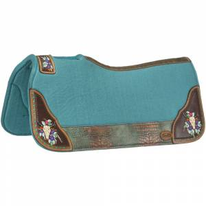 Tough-1 Hand Painted Felt Steer Skull Saddle Pad