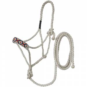 Tough-1 Beaded Mule Tape Halter with Lead - Diamonds