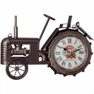 Gift Corral Bronze Tractor Table Top Clock