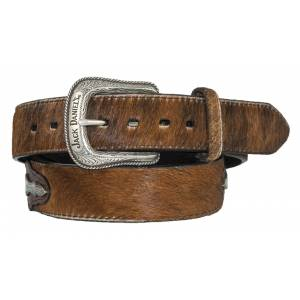 Jack Daniel's Hair-On Leather Belt with Conchos