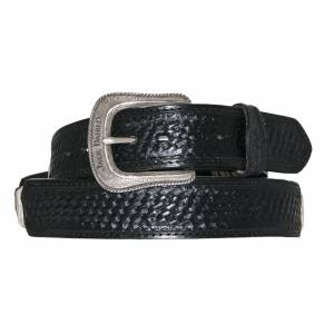 Jack Daniel's Horsehair Laced Basket Weave Leather Belt
