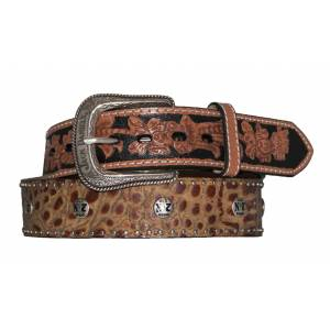 Jack Daniel's Alligator Print Belt with Western Tips
