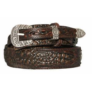 Jack Daniel's Alligator Print Ranger Belt with Buckle Set