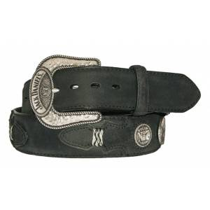 Jack Daniel's Leather Western Belt with Conchos