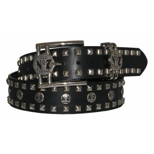 Jack Daniel's Old No.7 Leather Belt with Studs