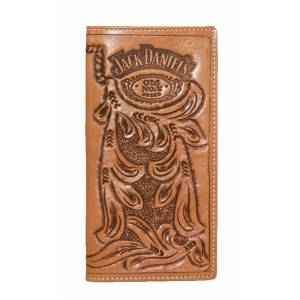Jack Daniel's Hand-Tooled Leather Wallet