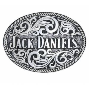 Jack Daniel's Made in USA Oval Rope Edge Belt Buckle