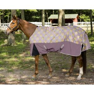 TuffRider Bonum 1200D Medium Weight Standard Neck Giraffe Print Turnout Blanket