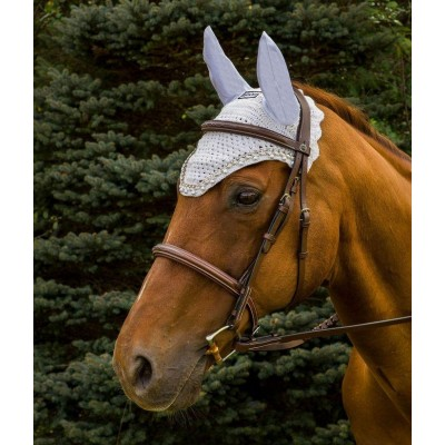 Equine Couture Fly Bonnet with Pearls and Crystals