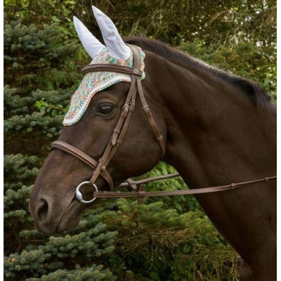 Equine Couture Rainbow Fly Bonnet with Crystals