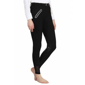 TuffRider Ladies Tiffany Ribbed Breeches with Silicone Knee Patch
