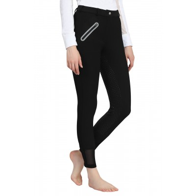 Tuffrider Ladies Tiffany Ribbed Breeches with Silicone Full Seat