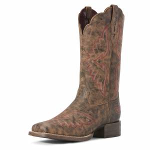 Ariat Ladies Round Up Santa Fe Western Boots
