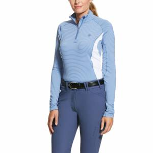 Ariat Ladies Tri Factor 1/4 Zip Baselayer