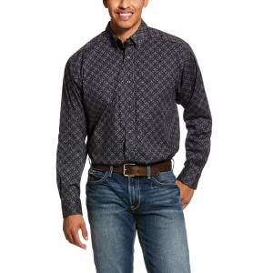Ariat Mens Fanton Print Stretch Classic Fit Long Sleeve Shirt