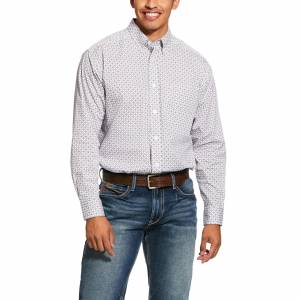 Ariat Mens Ferndale Print Stretch Classic Fit Long Sleeve Shirt